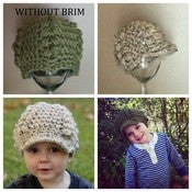 Image of Ribbed Cluster Beanie with/without brim