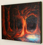 Image of Elven Woods Painting-16x20 Fine Art Giclee Canvas Print