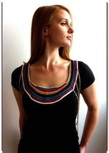 Image of crochet body chain