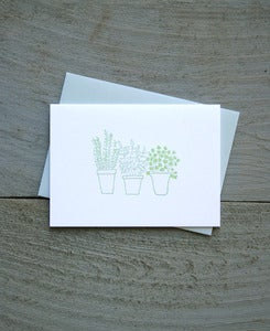 Image of Potted Herbs Everyday Note Card