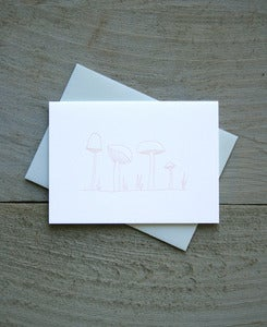 Image of Mushrooms Everyday Note Card