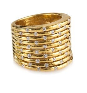 "Image of "" New "" Kara Ackerman <i> Talulah <i/> Bamboo Ring"
