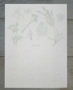 Image of 2013 Kitchen Herbs Calendar Print