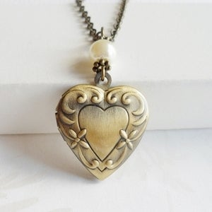 Image of Love Heart Locket Necklace