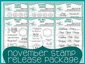 Image of November 2012 Stamp Release Package ~ Peachy