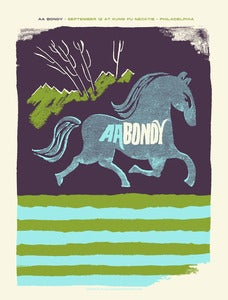 Image of AA Bondy Gig Poster