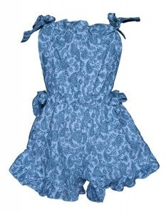 Image of Paisley flannelette frilled playsuit
