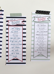 Image of Wishes For Baby Banner Stripe Navy & Red pdf
