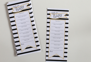 Image of Wishes For Baby Banner Stripe Black & Yellow pdf