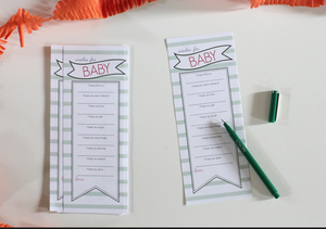 Image of Wishes For Baby Banner Stripe Greens pdf