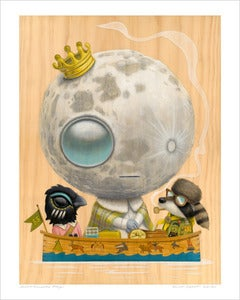 Image of &quot;Luna Ascensio Rex&quot; giclee print