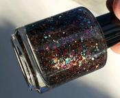 Image of Mocha Sprinkles - Brown Chocolate Teal Magenta Indie Glitter Nail Polish