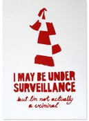 Image of Under Surveillance, red (stenciled print)