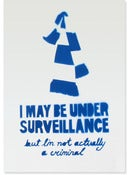 Image of Under Surveillance, blue (stenciled print)