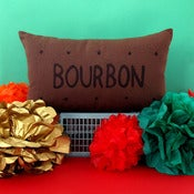 Image of Bourbon Biscuit Screen-Printed Cushion