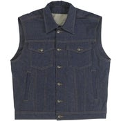 Image of Biltwell Prime Cut Collared Vest - Indigo (Gen2)