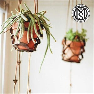 Image of Leather hanging planter