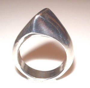 Image of Solid Sterling Silver Angle Ring