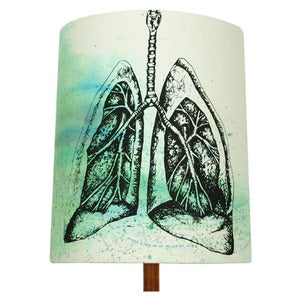 Image of Anatomy Lamp Shade - Lungs No. 1, Painted