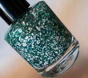 Image of Salt Water - Teal White Indie Glitter Nail Polish