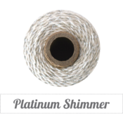 Image of Platinum Shimmer - Silver Metallic & Natural Baker's Twine