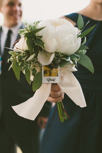 Image of Bridesmaid Bouquet Polaroid Pin