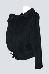 Image of Cali Calo Luna Fleece Babywearing Jacket - Plain Black