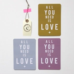 "Image of 3 Cartes ""All You Need is Love"""