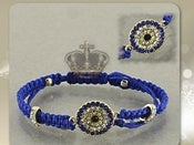 Image of BLUE MACRAME EVIL EYE