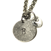Image of april initial necklace - silver