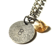 Image of november initial necklace - silver