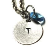 Image of december initial necklace - silver