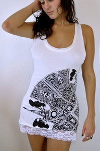 Image of Lace Scarab Camisole- White
