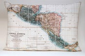 "Image of Vintage CENTRAL AMERICA 14"" x 20"" Map Pillow Cover"