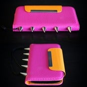 Image of Iphone 5 Hot Pink Palm Wallet (FREE SHIPPING)
