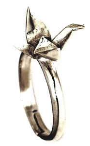 Image of PAPER KRANE - White Bronze