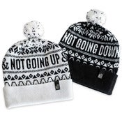 Image of Not Going Down & Not Going Up (lambswool bobble hat, in black or white)