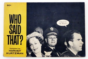 Image of Who Said That? by Harvey Kurtzman