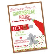 Image of Gingerbread Decorating Party printable invite