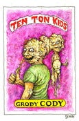 Image of 'Grody Cody-Garbage Pail Kid' original art