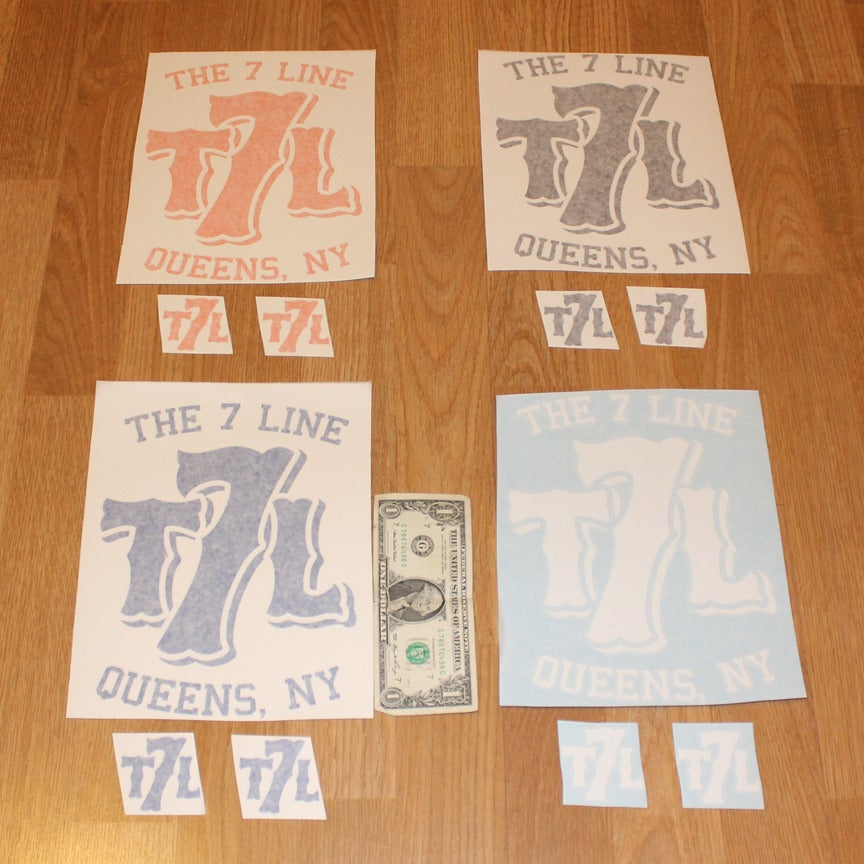 Image of T7L logo sticker combo