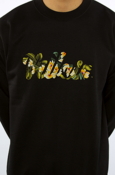 Image of Villain Floral Patch Crewneck (BLK)