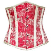 Image of Red and White Brocade