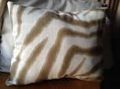 Image of Light Zebra pillow