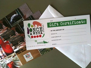 Image of ONCE a Week Gift Certificate