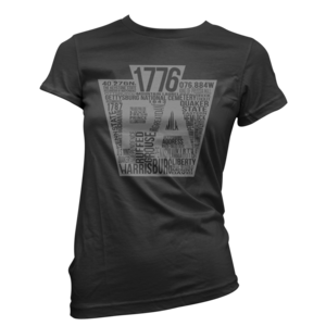 Image of Women's Keystone Tee (Black/Grey)