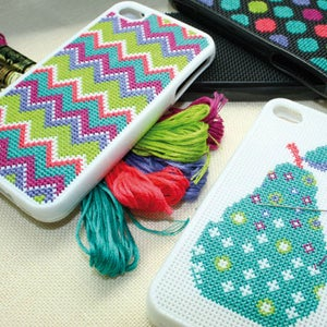 Image of iPhone Cover Cross Stitch Kit