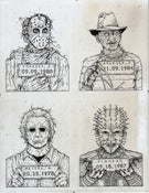 Image of 'Monster MugShots' series one original illustration
