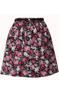 Image of Shelly Rose print Skirt