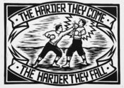 Image of 'The Harder They Come' Lino Print